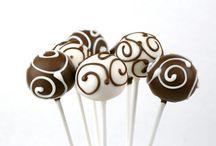 Cake pops de chocolate y vainilla