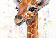 Giraffe in Art 2 / ART