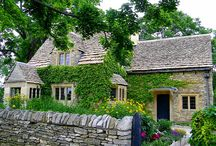 Cottages,  houses, landscapes / Landscape with cottage / by Ilona Terry