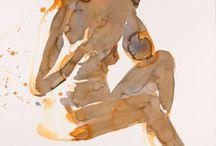akty akvarel  a  foto