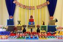 Super herois / Super heroes boys party decoration for boys