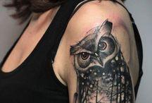 Τατουάζ Με Κουκουβάγιες