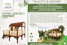 Domki dziecięce / Drewniane domki dziecięce do własnoręcznego malowania!