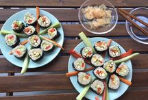 Vegan Sushi!!!! / I love Sushi! I'm glad for all of these delicious vegan recipees and I am totally inspired to try out each one of them! :-)