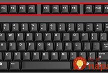 klávesové skratky.
