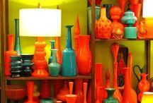 Orange glas