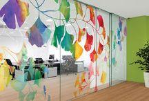 { findyourlevel } window film / #windowfilm #mural #digitalwallcovering