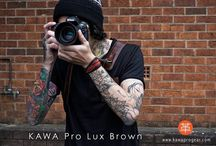 Pro Strap Lux Brown / The lightest heavy-duty camera strap made with genuine leather. Featuring it's own screwmount with locking system. Built for Comfort, Style, and Durability.    info@kawaprogear.com