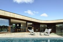 13th Beach Courtyard House - Auhaus Architecture / A new house by Auhaus architecture. This contemporary family home is located in coastal Victoria, Australia beside a renowned 36 hole golf course. Built from Hardwood timber it surrounds an internal courtyard and pool capturing the Northern sun.