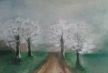 MY PAINTINGS / I present my own paintings .