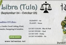 Astrological sign of Libra / The Zodiac sign of Libra represents the placement in the sky where the sun was during the time of birth and, in the case of Libra, influences people who were born between the dates of September 24 - October 23. The Zodiac sign of Libra is ruled by Venus, one of the planets in the Solar system.