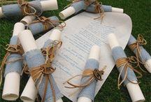 Προσκλητήρια βάπτισης χειροποίητα / Χειροποίητα προσκλητήρια βάπτισης για αγοράκι και κοριτσάκι συνδυασμένα & με τις μπομπονιέρες βάπτισης
