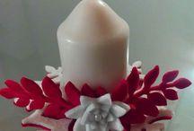 porta candele in feltro