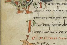 Sacramentaire de Gellone (790-795) Paris Bnf Lat 12048 Diocèse de Meaux / Sacramentaire de Gellone, manuscrit enluminé fin VIII°s (Paris Bnf, département des Manuscrits, Latin 12048). Origine d'un monastère du diocèse de Meaux. Présence attestée à l'abbaye de St-Guilhem le Désert au début du IX°s. Style influence directement par l'enluminure mérovingienne.