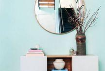 light blue living room