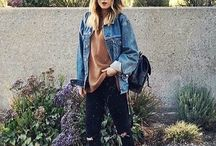 Casual grunge/90's inspired looks