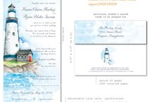 Lighthouse Wedding Invitations / Whether you getting married by the sea or just have a fascination with lighthouses, we have a new collection that will tickle your fancy!