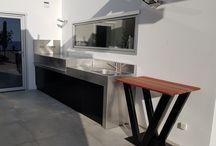 La rochelle / Envie de donner du charme à votre jardin ou votre terrasse, cuisiner en profitant de vos invités. N'hésitez pas à nous contacter et nous étudierons votre projet de cuisine extérieure. Atlantic Inox fabricant de cuisine d'été, cuisine d'extérieur sur La Rochelle et France entière