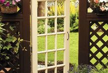 Using old French doors