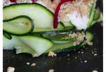 Raw vegan dinner