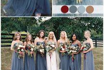 Wedding Inspiration | Color Palettes / Wedding Color Palettes |  Inspiration for wedding color palettes, color combinations, wedding colors  http://fivedotdesign.com/