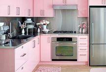 Combinacao de cozinha rosa