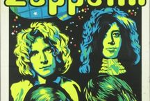 Led Zeppelin albums, artwork, posters and newspaper clippings / by Sheri Thomason