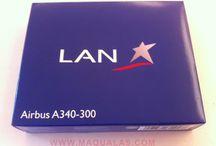 Airbus A340-300 LAN Chile a escala 1:600 / Airbus A340-300 LAN Chile a escala 1:600