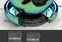 Texturas y Materia Blender / Concepto de texturas para render.