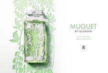 Guerlain X Ambre & Louise / Le 1er Mai 2016, Guerlain s'associe à Ambre & Louise pour son Exclusif Muguet Eau de Toilette.  Une création bucolique faisant du muguet une parure, et de ce flacon une pièce d'exception limitée à 2148 pièces dans le monde.