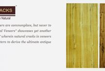 """Natural Cracks Veneers / Cracks in decorative face veneers are commonplace, but never to be seen by consumers. """"Natural Veneers"""" showcases yet another bold concept of """"crack veneers"""" where in natural cracks in veneers are placed in mix-n-match pattern to derive the ultimate antique solid wood furniture look."""