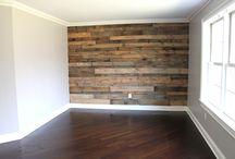 hout muur