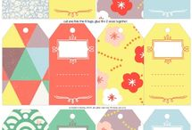 Gift tag / wrapping printables