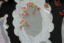bordados tecido transparente