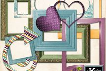 Frames - Digital Scrapbooking Elements by Kathryn Estry