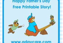 Free Father's Day Book for toddlers & Preschoolers / Cute story about a papa bear and his 2 cubs and how papa bear eats the egg for the egg race, how he burns up the steak and how he accidently throws a ball through a window, very cute story for fathers day!