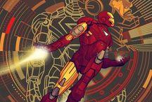 Quadro Decorativo Iron Man (Homem de Ferro) Cartoon