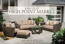 High Point Market 2013 / High Point Market's quartet of retail outdoor furniture sets from the 2013 Agio Collection. #HPMkt
