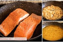 Platos faciles / Salmon en salsa de naranja
