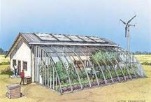Tiny off grid green house for vegetables