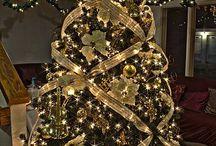 decoracion arboles de navidad dorado