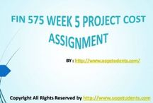 FIN 575 Week 5 Project Cost Assignment