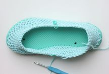 Crochet / Slippers on thong soles