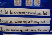 Preschool Snowman Unit