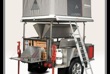 Interesting camping trailers and cars for traveling