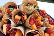 Snacks saudáveis de festa