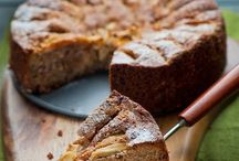 Tarta de manzana, avena, canela sin azúcar