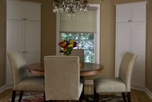 Dining Rooms / Custom designed cabinetry for dining rooms.