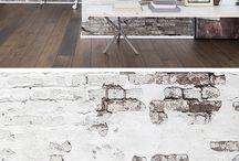 Wall design brick / アクセントに素材感の違いを際立たせる「レンガ」。しかも「フェイク」ならば模様替えもカンタン!!これこそ壁紙の妙味ですよね。