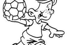 Coloriages foot / Tous les coloriages sur ce sport collectif le plus aimé de tous : le football.
